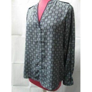 The Limited long sleeve print blouse shirt NWT!